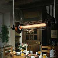 Industrial Retro Vintage Flute Pendant Lamp Kitchen Bar Hanging Ceiling Light