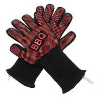 2X Barbecue Heat Resistant Silicone Gloves Oven Kitchen Grill BBQ Cooking Mitts Security Glove
