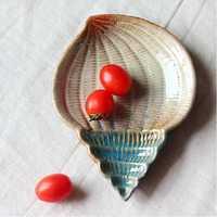 Creative Ceramic Kitchen Home Conch Shell Starfish Snack Fruit Vinegar Sauce Dish