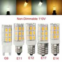 E11/E12/E14/E17/G9 2.7W 27 SMD 5730/5630 Ceramic Holder LED Corn Light Non-Dimmable Bulb 110V