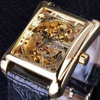 GMT983-1 Casual Style Rectangle Self-Wind Mechanical Watch