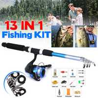ZANLURE 13pcs/set 5.2:1 BB Fishing Rod Reel Combo