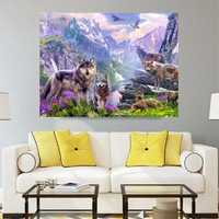 40x35CM Wolves 5D Diamond Painting Embroidery DIY Craft Home Decor