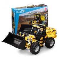 Doublee CaDA Building Blocks Toys Engineering Vehicle Remote Control Crawler Excavator Big Crane Mixer Ttruck Bulldozer Boy Spelling Toy