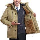 Acheter au meilleur prix Plus Size Windprof Fleece Warm Padded Jacket Hood Parka