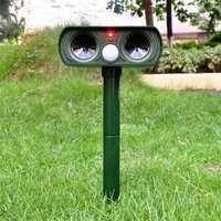 Loskii GN-01 Ultrasonic Solar Power Animal Dispeller Infrared Sensor Cat Dog Snake Rat Dog Repeller Gard