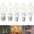 Acheter E27 E14 E12 B22 B15 1.6W LED Pure White Warm White Filament Candle Light Lamp Bulb AC110V