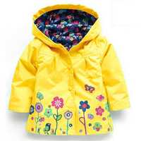 Kid Girls Waterproof Trench Coat
