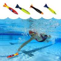 Water Pool Bath Diver Plastic Toy Swimming Kids Bath Torpedo Fish Model Toys