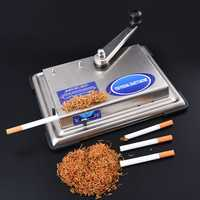 70CM Manual C igarette Roller Injector Rolling Machine T obacco Maker Smoker Gift