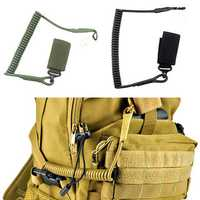 Elastic Anti-lost Tactical Stretching Gun Rope Anti-Theft Key Hanging Retractable Gun Accessories