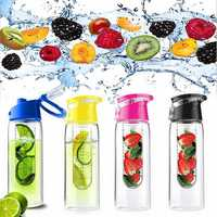 800ML Fruit Juice Infusing Infuser Water Bottle Sport Health Lemon Juice Bottle Flip Lid