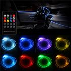 Recommandé RGB LED Optical Fiber Neon EL Strip Light Car Interior Decoration Lamp Flexible Tube APP Remote Control 5m