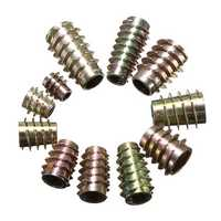 10Pcs Hex Drive Screw In Threaded Insert Type E Bushings For Wood M4/M5/M6/M8