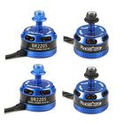 Discount pas cher 4X Racerstar Racing Edition 2205 BR2205 2300KV 2-4S Brushless Motor Dark Blue For 210 X220 250 280 RC Drone