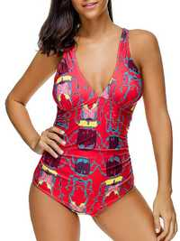 Women Soft Comfy Ruffle One-Pieces Swimwear Suits