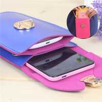 Universal Woman Double Layer Wallet Case Phone Bag Mobile Package for under 5.8-inch Phone