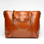 Meilleurs prix Women Oil PU Leather Tote Handbag