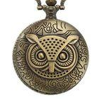 Wholesale Price DEFFRUN XHB02 Owl Pattern Chain Quartz Pocket Watch