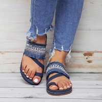 SOCOFY Beach Bohemian Flat Sandals