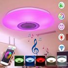 Meilleurs prix RGBW APP/Voice Control Dimmable bluetooth Speaker LED Ceiling Light Fixture Work with Google Alexa