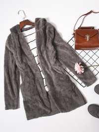 Plus Size Women Thick Hooded Fleece Coats With Belt
