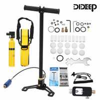 DIDEEP 0.5L Mini Scuba Tank Diving Oxygen Reserve Air Hand Pump Dive Equipment
