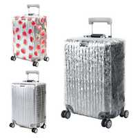 Honana PVC Transparent Clear Waterproof Luggage Cover Trolley Case Cover Durable Suitcase Protector for 20-28 Inch Case Rain Day Travel Accessories