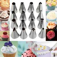16 Pcs Set Russian Piping Tips Multi-shape Icing Npzzles Cake Decoration Top Baking Accessories