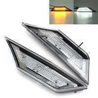 LED Car Transparent Side Marker Lights Turn Signal Corner Parking Lamp for Honda Civic 10 16-18