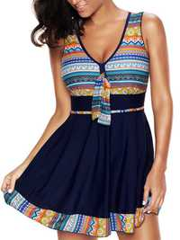 Plus Size Padded Criss Cross One-Pieces Swimsuit