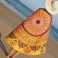 Indian Mandala Woman Beach Towel Hippie Wall Hanging Bohemian Bedspread Tapestry Dorm Decor