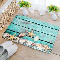 40x60cm Kitchen Bedroom Bathroom Non-Slip Carpet Wood Starfish Pedestal Rug Floor Mat