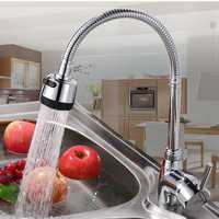 Kitchen Bathroom Spout Faucet 360° Rotate Pull out Sprayer Hot Cold Water Mixer Tap