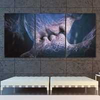 3Pcs Love Kiss Abstract Canvas Print Paintings Pictures Home Room Decor Unframed