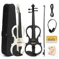 4/4 Electric Violin with Headphone Gig Bag Bow Cable for Beginner