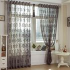 Bon prix 2 Panel Breathable Voile Sheer Curtains Bedroom Balcony Light Transmission Window Screening