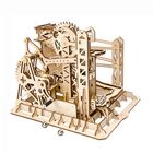 Meilleurs prix 3D Self-Assembly Wooden Marble Run Lift Puzzle Magic Crush Handcrank Mechanical Model Building Education Gift