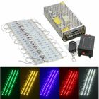 Recommended 40PCS 5 Colors SMD5050 LED Module Store Strip Light Front Window Lamp + Power Supply + Remote DC12V