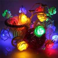KCASA 1.2M 10 LED Small Rose Light String LED Fairy Lights for Festival Christmas Wedding Decoration