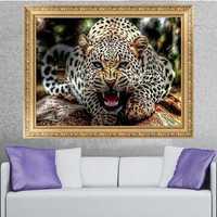 30x40CM 5D Diamond Painting Leopard Embroidery Cross Stitch Home Decor