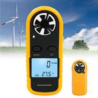Digital LCD Anemometer Thermometer Air Wind Speed Meter Temperature Tester