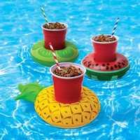 Honana CF-IC06 Mini Flamingo Floating Inflatable Coasters Swimming Pool Drink Phone Holder Stand