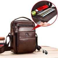Vintage Genuine Leather Business Bag Shoulder Bag Crossbody