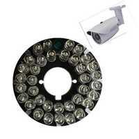 36pcs 850nm LEDs CCTV F5 Infrared Illuminator IR 90 Degrees Bulb Board for Bullet CCTV Camera