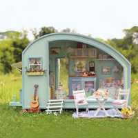 CuteRoom A-016 Time Travel DIY Wooden Dollhouse Miniature Kit Doll house LED Music Voice Control
