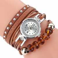 DUOYA D214 Crystal Casual Style Women Bracelet Watch