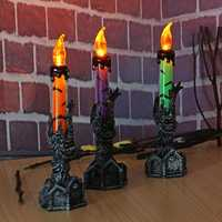 Halloween Skull Skeletal Hand Stand LED Candle Light Party Decorations