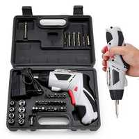 4.8V Multi-Function Electric Screwdriver Portable Charging W/ 44pcs Screws Power Tool Set