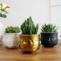 Modern Ceramic Flower Pot Vase Dora Maar Musa Jonathan Adler Decoration Head Figure Design
